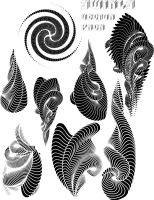 swirls vector pack by ragingcephalopod