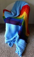 Rainbow Dash Blanket - My Little Pony Afghan by Weeaboo-Warehouse