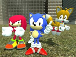 Classic Team Sonic by JJsonicblast86