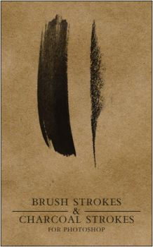 Brush and Charcoal strokes by silver-spurs