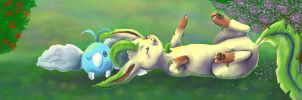 Sunbathing in the Grass by PacificPikachu