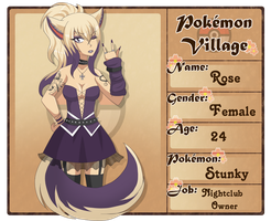Poke Village: Rose Parker by RoboPeon