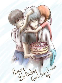 Happy Birthday Gin-san 10/10/13 by FabiolaMustang