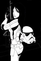 female stormtrooper by doctordrive