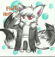 art trade with FluffyHero by RedNoctali