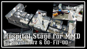 [MMD] Hospital Stage for MMD (Download) by Riveda1972