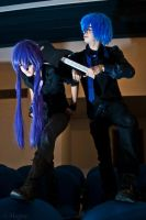 Gakupo Kamui in black cosplay. .With Kaito. 2 by EvylSutcliffe