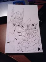 Optimus and Elita One ( AOE Style) by Lady-ElitaOne