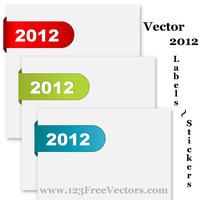 Vector 2012 Labels Stickers by 123freevectors