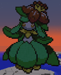 Minecraft Pixel Art: Lilligant Pokemon. by GateMasterGreen