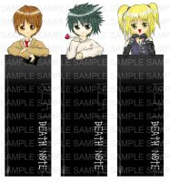 Death Note Bookmarks by ome-okane