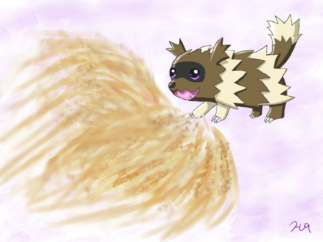 Ziggy the Zigzagoon, My First Catch by HarmonytRocketEeveon