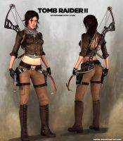 TOMB RAIDER 2: Lara Concept Outfit (Fanmade) by doppeL-zgz