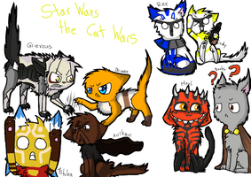 Star Wars the Clone Wars in Cats by 00Schadow00virus00