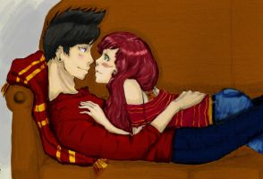Here In Your Arms colored by PigletPrincess