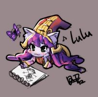 little artist lulu by dakun87