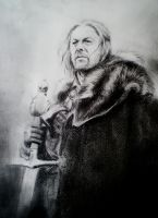 Ned Stark, Game of Thrones by steinunnst