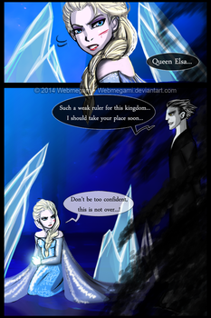 Random comic - Elsa vs Pitch Black by Webmegami