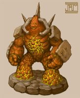 Lava Golem by Luneder