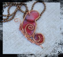Bright Copper Butterfly-Red and Purple by kelleejm1