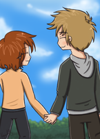 OTP Challenge (Day 1) - Holding Hands by ArcherVale