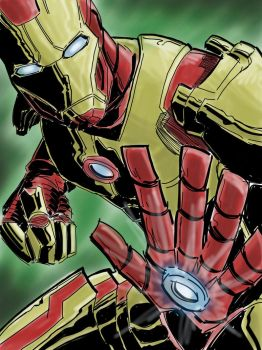 Iron Man iPad sketch by jeffclemens