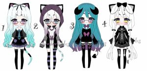 Pastel goth adoptable batch CLOSED by AS-Adoptables