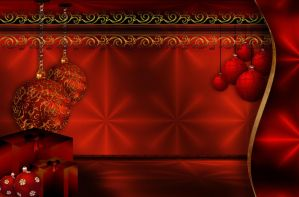 Christmas background with bells by Lyotta