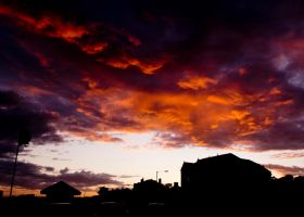 Criccieth sunset by M-Hutcheson