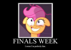 Demotivational Poster- Finals Week by CuddlyLittlePurrrson