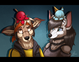.:AT:. Octopus Buddies~ by ScottishRedWolf