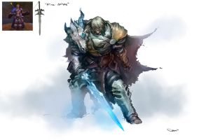 Arthas Menethil - concept re-design by DarrenGeers