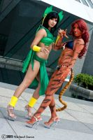 Mantis and Tigra 2 by Insane-Pencil
