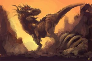 'Prehistoric King' Speed Paint by Baals-Baby