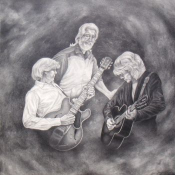 The Moody Blues -30x30-pencil by LisaCrowBurke