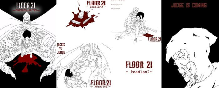 Floor 21 - Deadland - Final Collage by jasonluthor