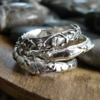 Silver.stacking.twig.rings.set.3 by OneLoomStudio