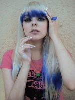 Blue Bangs Platinum  Hair Girl by cherrybomb-81