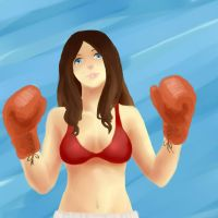 Boxer girl by Valkloque