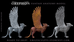 Gryphon Fantasy Anatomy Model - Ready to Ship by emilySculpts