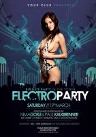 Electro Party Flyer/Poster by outlawv15