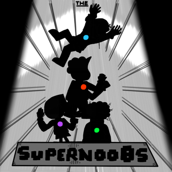 The Supernoobs (Silhouettes) by X-Ranger-of-Epicness