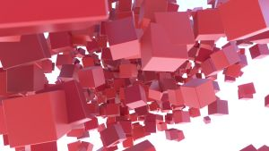 Red Cubes Wallpaper by aad345