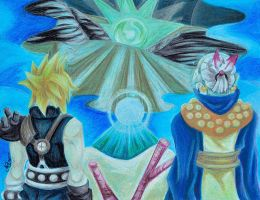FFVII Scene: Seeing White Materia on H2O Screen by LadyJuxtaposition