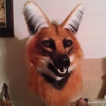 Maned Wolf Mask by netherdenstudio