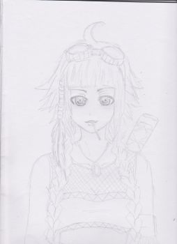 My OC--Pepo (watermelon) rough sketch by dumbnargles