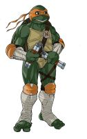 a sketch of Michelangelo from the next mutation by KingJames06