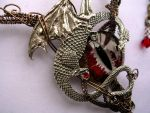 Bronze Red Pewter Dragon by LadyPirotessa