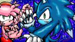 WereSonic and WereAmy by QTStartheHedgehog