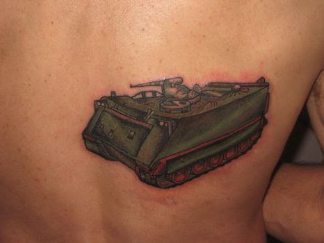 M113a1 Tank Tattoo by redsamuraidragon